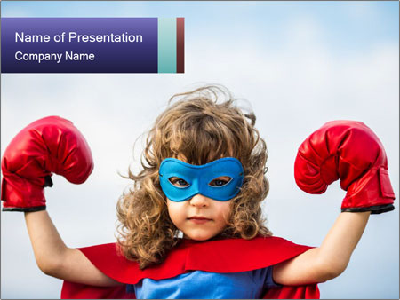 Superhero kid powerpoint template backgrounds id 0000090590 superhero kid powerpoint template toneelgroepblik Image collections