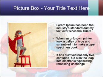 Superhero kid PowerPoint Template - Slide 13