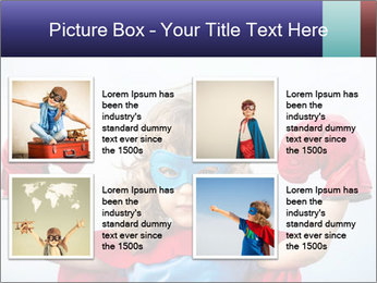 Superhero kid PowerPoint Template - Slide 14