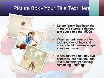 Superhero kid PowerPoint Template - Slide 17