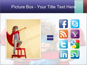 Superhero kid PowerPoint Template - Slide 21