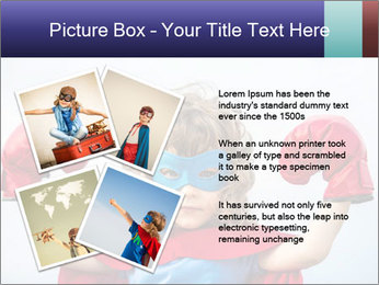 Superhero kid PowerPoint Template - Slide 23