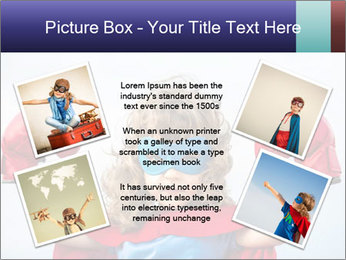 Superhero kid PowerPoint Template - Slide 24