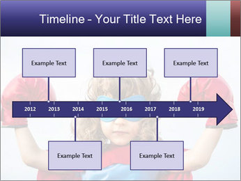Superhero kid PowerPoint Template - Slide 28