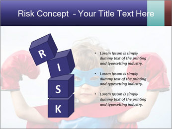 Superhero kid PowerPoint Template - Slide 81
