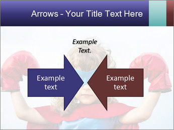 Superhero kid PowerPoint Template - Slide 90