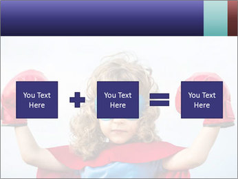 Superhero kid PowerPoint Template - Slide 95