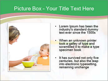 Mother feeding PowerPoint Template - Slide 13