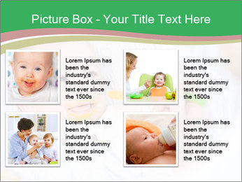 Mother feeding PowerPoint Template - Slide 14