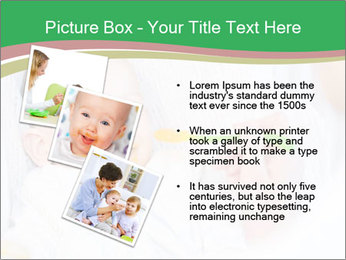 Mother feeding PowerPoint Template - Slide 17