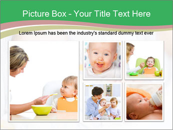 Mother feeding PowerPoint Template - Slide 19