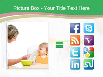 Mother feeding PowerPoint Template - Slide 21