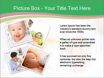 Mother feeding PowerPoint Template - Slide 23
