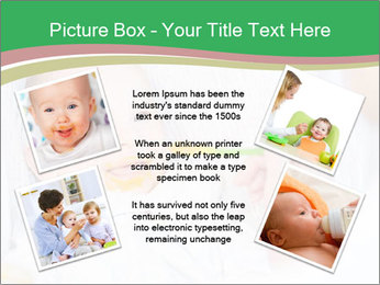 Mother feeding PowerPoint Template - Slide 24