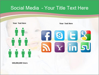 Mother feeding PowerPoint Template - Slide 5