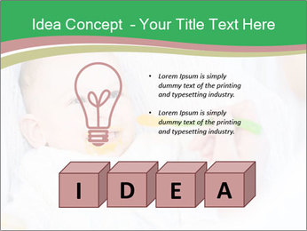 Mother feeding PowerPoint Template - Slide 80