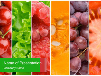 Healthy food PowerPoint Template - Slide 1