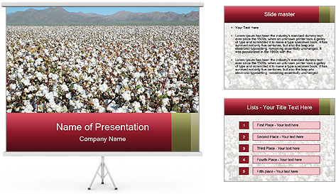 Fields of Cotton PowerPoint Template