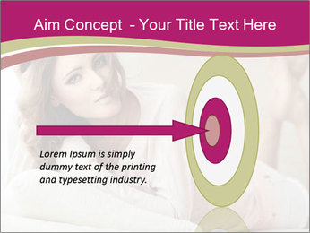 Home portrait of beautiful young woman PowerPoint Template - Slide 83