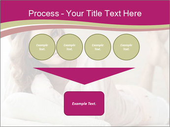 Home portrait of beautiful young woman PowerPoint Template - Slide 93