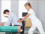Masseuse treating clients PowerPoint Templates