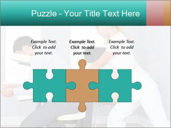Masseuse treating clients PowerPoint Templates - Slide 42