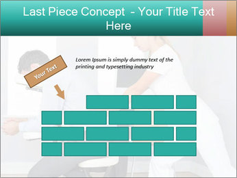 Masseuse treating clients PowerPoint Templates - Slide 46
