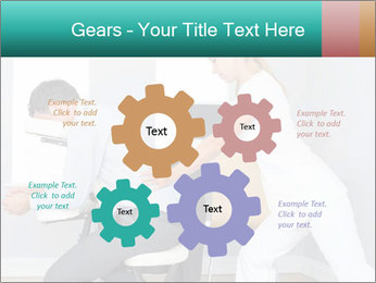 Masseuse treating clients PowerPoint Templates - Slide 47