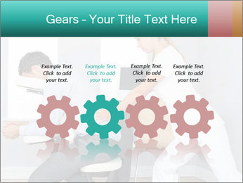 Masseuse treating clients PowerPoint Templates - Slide 48
