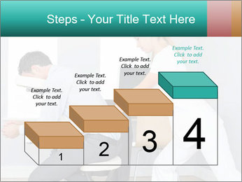 Masseuse treating clients PowerPoint Templates - Slide 64