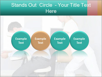Masseuse treating clients PowerPoint Template - Slide 76