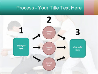 Masseuse treating clients PowerPoint Templates - Slide 92