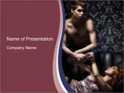 Young couple in bdsm PowerPoint Templates