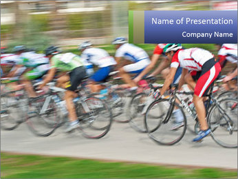 Bicycle PowerPoint Template - Slide 1
