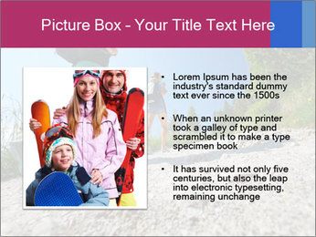 Two female hikers walking PowerPoint Template - Slide 13