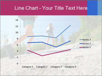 Two female hikers walking PowerPoint Template - Slide 54