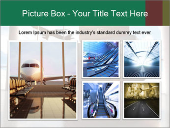 Travel bags in airport PowerPoint Template - Slide 19