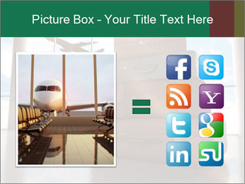 Travel bags in airport PowerPoint Template - Slide 21