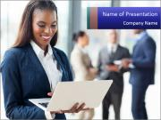 Afro-American Businesswoman PowerPoint Templates