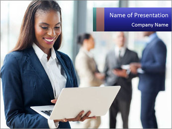 Afro-American Businesswoman PowerPoint Template - Slide 1