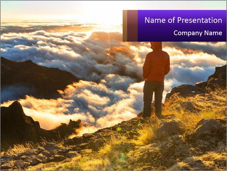 Mountain peaks PowerPoint Templates
