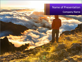 Mountain peaks PowerPoint Template