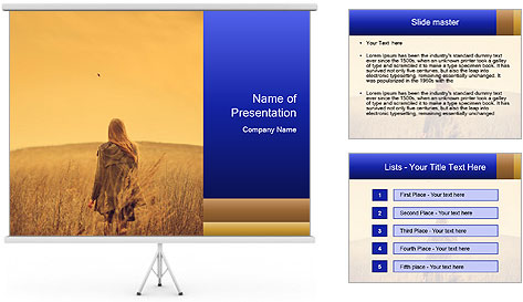 Attractive model PowerPoint Template