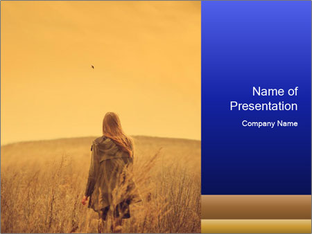 Attractive model PowerPoint Templates