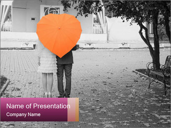Lovers couple PowerPoint Template - Slide 1