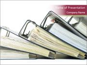 Row of ring binders PowerPoint Templates