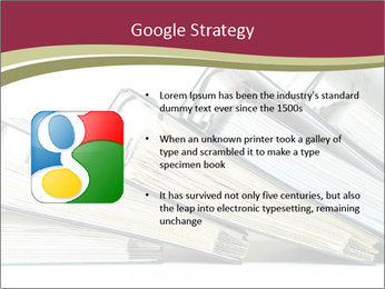 Row of ring binders PowerPoint Templates - Slide 10
