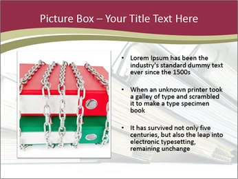 Row of ring binders PowerPoint Template - Slide 13