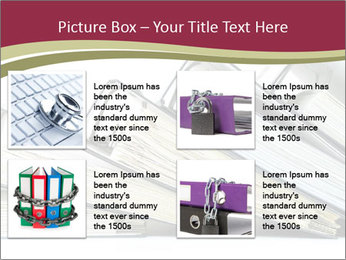 Row of ring binders PowerPoint Template - Slide 14
