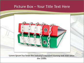 Row of ring binders PowerPoint Template - Slide 15